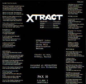 Xtract - Blame it on the youth EP - back